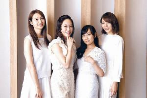 連ドラ初主演する「スフィア」の(左から)戸松遥、寿美菜子、高垣彩陽、豊崎愛生