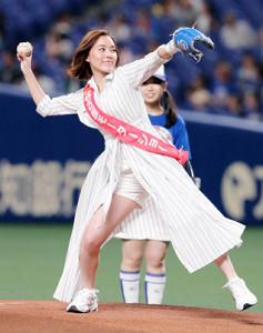 スピードガンコンテストに挑戦するSKE48・松井珠理奈