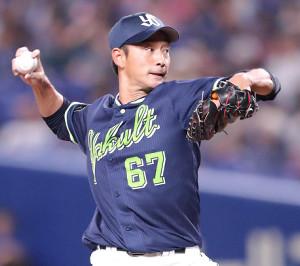 9回に登板し、今季初勝利を挙げた平井(カメラ・谷口 健二)