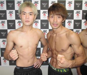 計量をパスした大保龍球(左)と波田大和