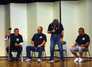 平成維震軍の(左から)木村健悟氏、越中詩郎、ザ・グレート・カブキ、青柳政司