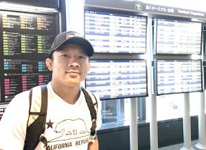 米フロリダへ成田空港から飛び立った堀口恭司