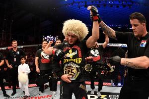 防衛に成功したハビブ・ヌルマゴメドフ(Jeff Bottari/Zuffa LLC/UFC)