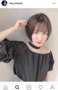 インスタグラムより@miu_hirano