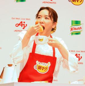 都内で行われた「クノール カップスープ」の新CM発表会に出席した永野芽郁