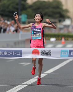 MGCで優勝し、東京五輪出場が内定した前田穂南(カメラ・相川 和寛)