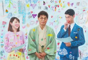 「完売画家」として話題の中島健太が描いた番組ポスタービジュアル(C)TBS