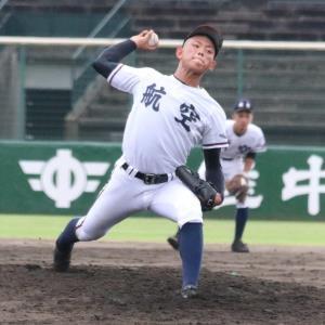 3安打10奪三振無四球に抑えて完封した日本航空石川・田中