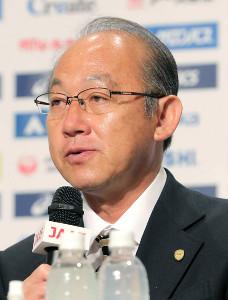 日本陸連の麻場一徳強化委員長