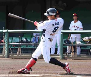 3安打2打点と活躍したBCリーグ選抜・青木颯