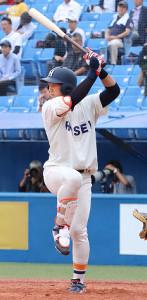 2本の二塁打で好機を演出した法大の福田