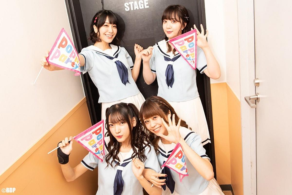 札幌でイベントを行った(上段左から)愛美、伊藤彩沙(下段左から)西本りみ、大塚紗英(C)BanG Dream! Project/撮影:Satoshi Hata