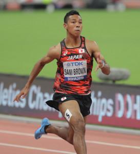 10秒09で6組3着となり、準決勝に駒を進めたサニブラウン・ハキーム(カメラ・相川 和寛)