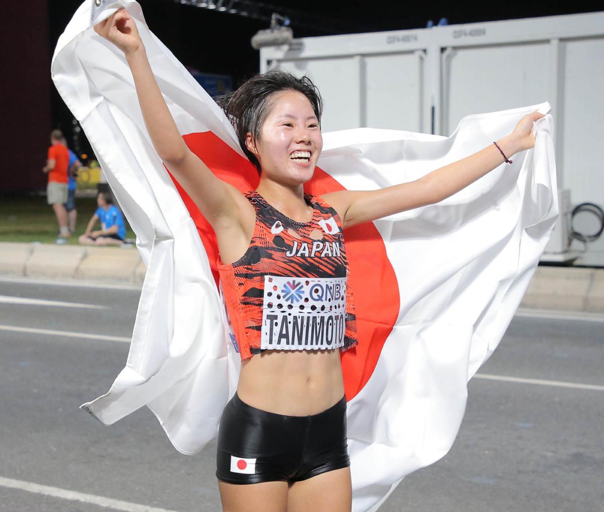 女子マラソンで7位入賞を果たした谷本観月