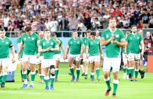 日本に敗れたアイルランド代表