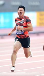 男子100メートル準決勝、10秒28で2組7着だった小池祐貴(カメラ・相川 和寛)
