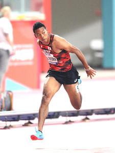 男子100メートル準決勝の1組で5着に終わったサニブラウン(カメラ・相川 和寛)