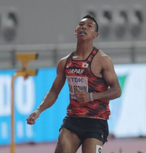 男子100メートル準決勝、10秒15で1組5着だったサニブラウン・ハキーム(カメラ・相川 和寛)