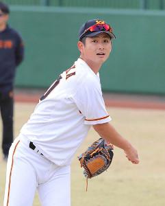 巨人の谷岡竜平投手