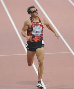 男子十種競技の400メートルで51秒42をマークした右代啓祐