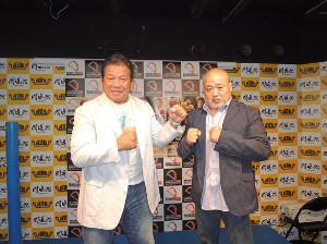 藤波(左)とヒロ斎藤