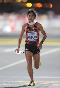 男子マラソンで29位に終わった川内優輝