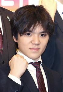 ガッツポーズの宇野昌磨