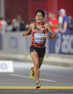 ドーハ世界陸上の男子マラソンで29位に終わった川内優輝