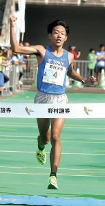 初陣の男子ハーフマラソンを大会新で制した東海大の名取