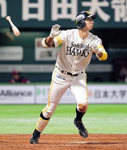 4回無死、福田が右越え本塁打を放つ