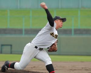 高校初の完封勝利を挙げた札幌日大・明田