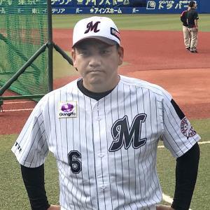 金田正一氏との思い出を語るロッテ・井口監督(カメラ・長井 毅)