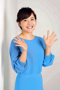 本紙インタビューに答える日本テレビ・水卜麻美アナウンサー(カメラ・小泉 洋樹)