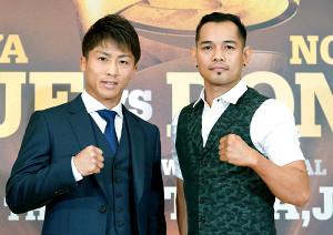 WBSS決勝で対戦する井上尚弥(左)とノニト・ドネア(C)NAOKI FUKUDA/WOWOW