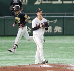 9回無死、大山に勝ち越しの1号ソロ本塁打を浴びた中川