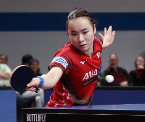 中国選手を下し、準々決勝に進んだ伊藤美誠