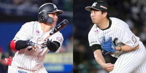 今季、15本塁打を放った鈴木(左)と通算140ホールドの益田
