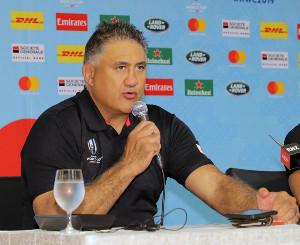 南アフリカ戦の先発メンバーを発表したジョセフヘッドコーチ