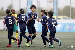 ダノンネーションズカップに女子日本代表として出場した千葉中央FCU―12ガールズ
