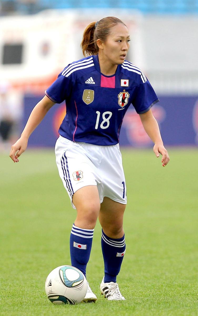 日本代表時代の丸山桂里奈(11年9月のロンドン五輪アジア最終予選)