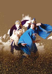 初公開された歌舞伎版「風の谷のナウシカ」のビジュアル。右が主人公ナウシカ役の尾上菊之助、左は皇女クシャナを演じる中村七之助