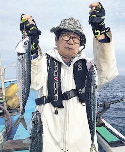 勝浦沖で好調なサバ