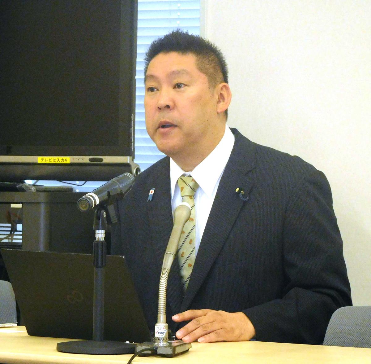 海老名市長選への立候補を表明したN国の立花党首