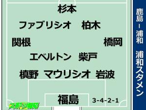 11月1日、鹿島−浦和戦の浦和スタメン