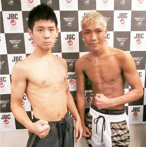東日本新人王ミニマム級決勝で対戦する今成太希(左)と亀田京之介
