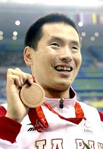 北京パラリンピック(08年)男子100メートル・バタフライ(視覚障害1)で銅メダルを獲得した河合純一氏