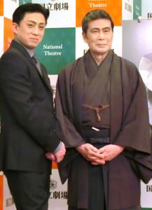 松本白鸚(右)と松本幸四郎