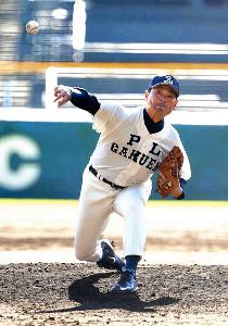4回から登板したPL学園OB・桑田氏は、高校時代と変わらない投球フォームで無失点に抑えた(カメラ・馬場 秀則)