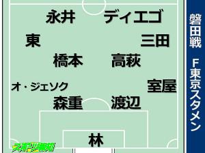 磐田戦布陣図