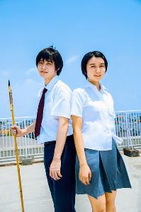映画「子供はわかってあげない」で共演した上白石萌歌と細田佳央太